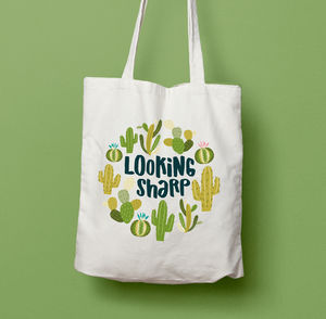 Looking Sharp Cacti Cactus Tote Bag