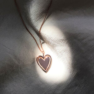 Personalised Spinning Love Heart Necklace