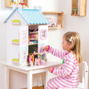 Personalised Wooden Dolls House With Furniture