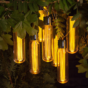Outdoor Valve Style Bulb Light Garland - new in garden