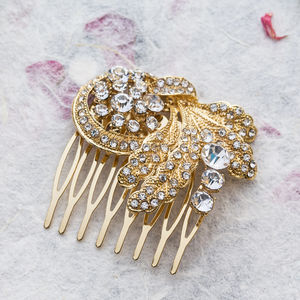 Annie Crystal Hair Comb - wedding jewellery