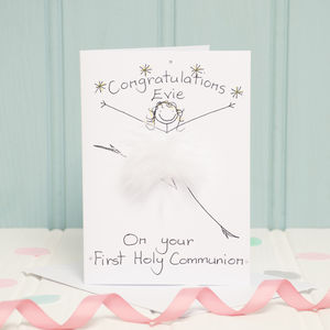Handmade Personalised First Holy Communion Card