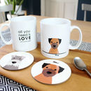 Personalised Dog Coaster And Mug Set