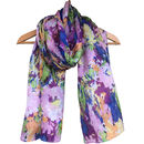 Large 'Magic Garden' Pure Silk Scarf