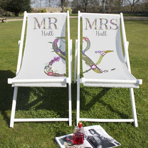 Couples Matching Deckchairs - garden furniture