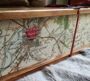Personalised Framed Love Map / Wedding Anniversary Sign