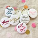 Script Satin Hen Party Badges