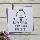 Happy Birthday Grandmother Personalised Card