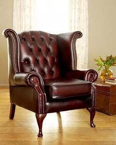 Red Queen Ann Wingback Armchair - new in home