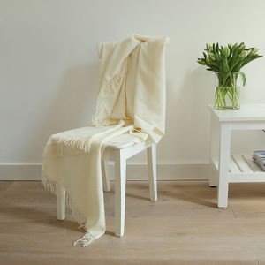 Ivory, Latte, Brown, Terra Baby Alpaca Throw Bella - blankets & throws