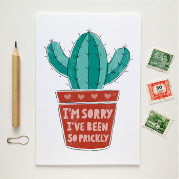 I'm Sorry Cactus Card