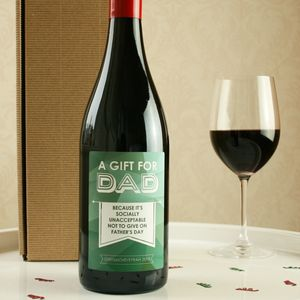 Fathers Day Obligation Gift Wine