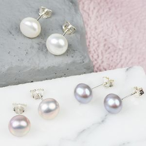 Sterling Silver Freshwater Pearl Earrings - june birthstone