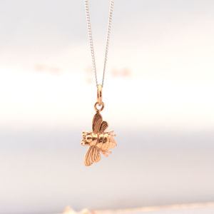 Bee Rose Gold Pendant Necklace
