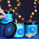 Zodiac Aquarmarine Jar Candle In 12 Different Scents