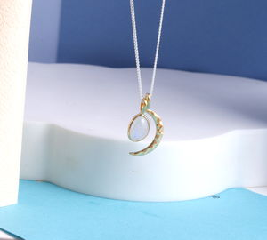 18ct Gold Vermeil Moon And Gemstone Necklace - view all fine jewellery