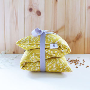Cow Parsley Wheat Heat Bag - hot water bottles & covers