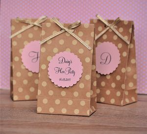Personalised Kraft Polka Dot Hen Party Gift Bag