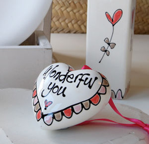 3D Personalised Hanging Heart