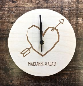 Personalised Couples Wall Clock - bedroom