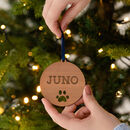 Personalised Paw Print Christmas Bauble For Pets