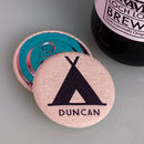 Personalised Camping Magnetic Bottle Opener