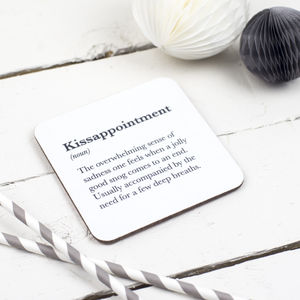 Funny 'Kissappointment' Coaster - dining room