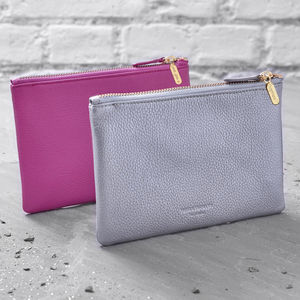 Personalised Leather Essentials Pouch - purses & wallets