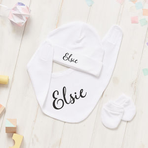 Personalised Super Soft New Born Gift Set - babies' gloves