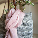 Understated Luxury,Handwoven Linen Scarf- Adobe