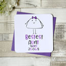 Personalised Bestest Aunt Greeting Card