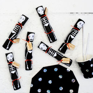 Skeleton Party Crackers With Tattoos - summer sale