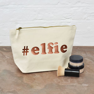 '#Elfie' Christmas Make Up Bag - make-up bags