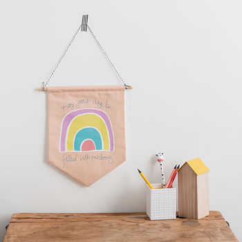 Positive Motivational Message Rainbow Flag