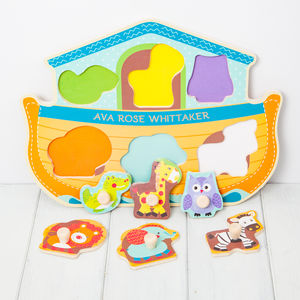 Personalised Noahs Ark Wooden Puzzle