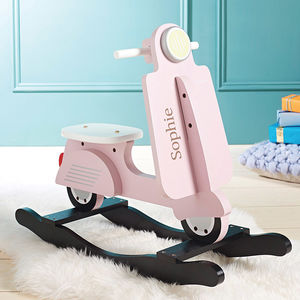 Personalised Rocking Scooter Toy Pink - birthday gifts for children