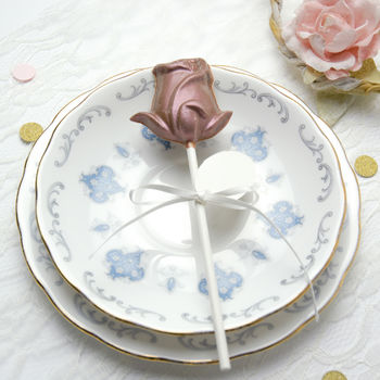 Chocolate Rose Lollipop Wedding Favours, 10