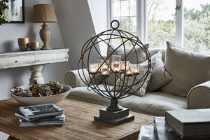 Maitland Globe Iron And Glass Votive Holder - new in home