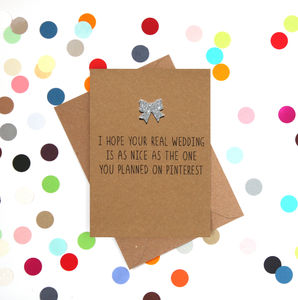 'Your Pinterest Wedding' Funny Wedding Card