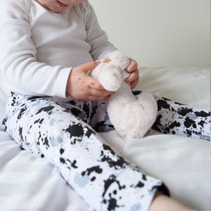 Mono Print Baby And Toddler Leggings - clothing