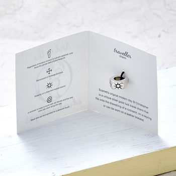 Personalised Travel Solid Silver Charm