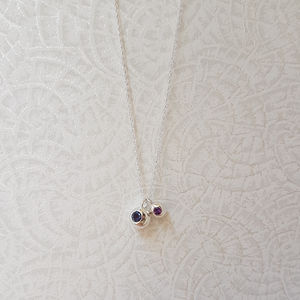 Silver Iolite And Amethyst Orb Necklace - necklaces & pendants