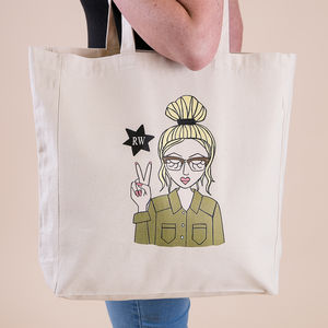'Miss Hip' Personalised Tote Bag