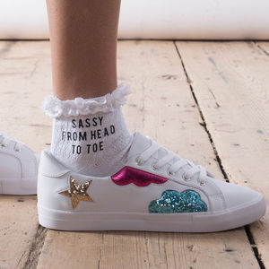 Sassy From Head To Toe Slogan Socks - gifts for her