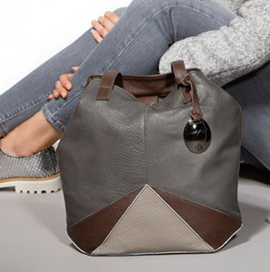 Iris Bag Grey And Taupe - bags & purses