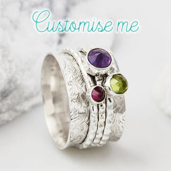 Personalised Birthstone Spinning Ring