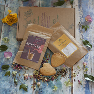 Rose Chai Tea And Cookies Gf And Vegan. Letterbox Gift