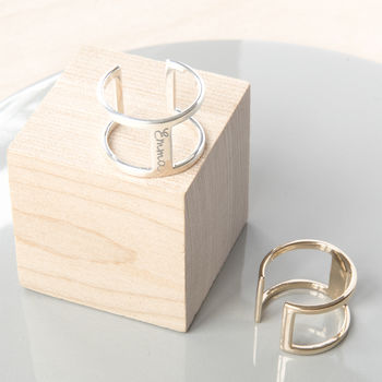 Personalised Double Band Ring