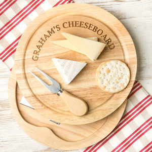 Personalised Premium Quality Cheese Board Set
