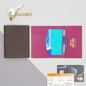 Bright Leather Travel Card Holder